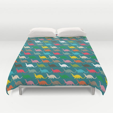 Colorful Dinosaurs Duvet Cover - TheGretest - 1
