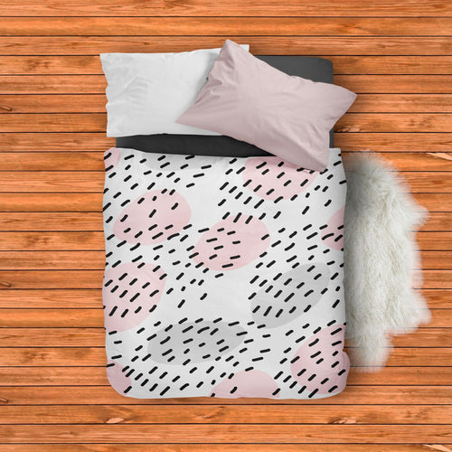 Pink and Gray Duvet Cover