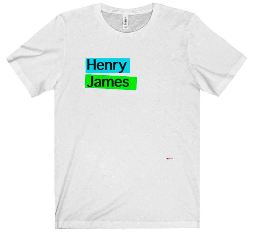 Henry James t-shirt. Literary t-shirt