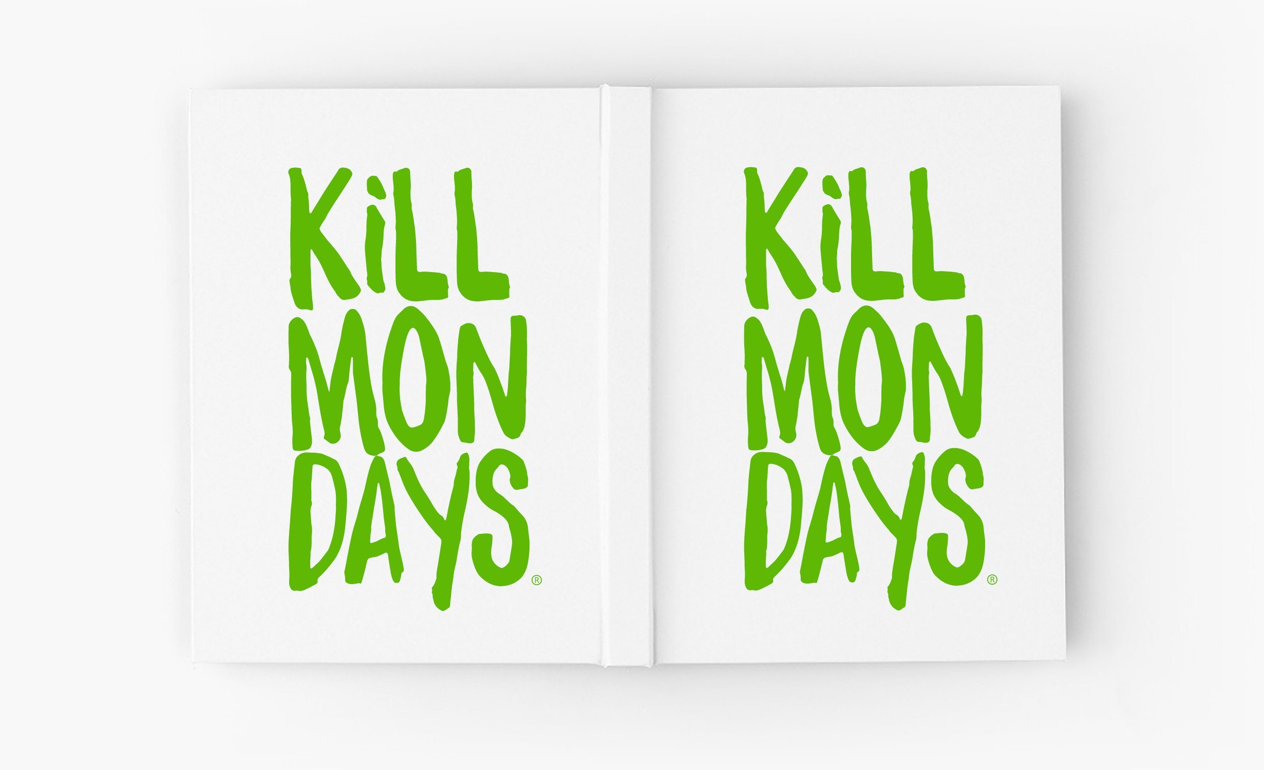 Kill Mondays Journal - White Journal-TheGretest