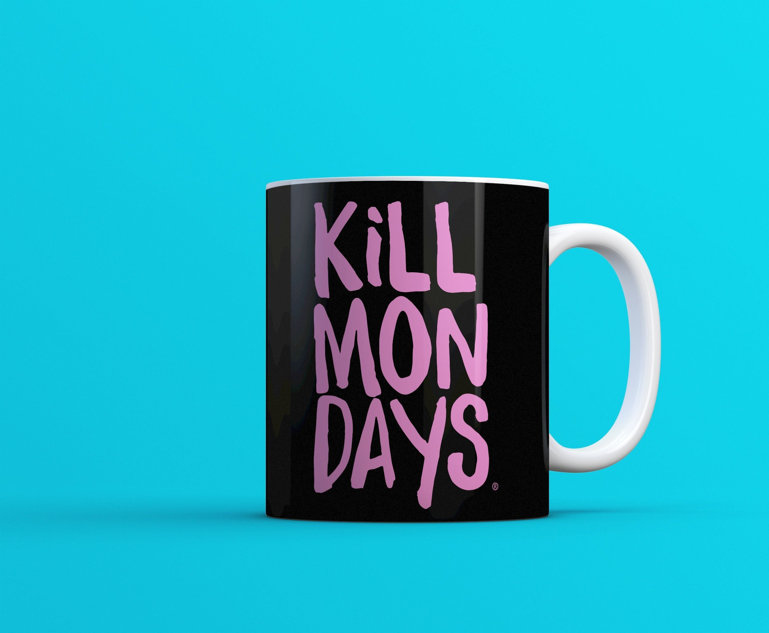 Kill Mondays Mug - Black mug-TheGretest