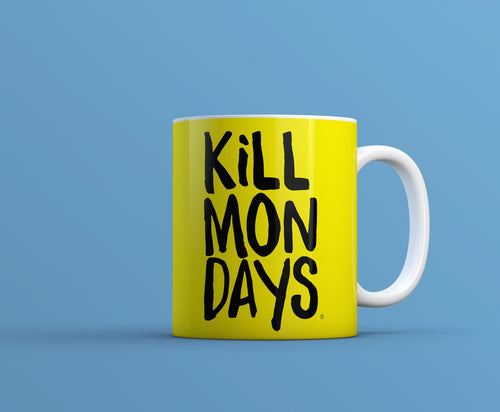 Kill Mondays Mug - Yellow mug