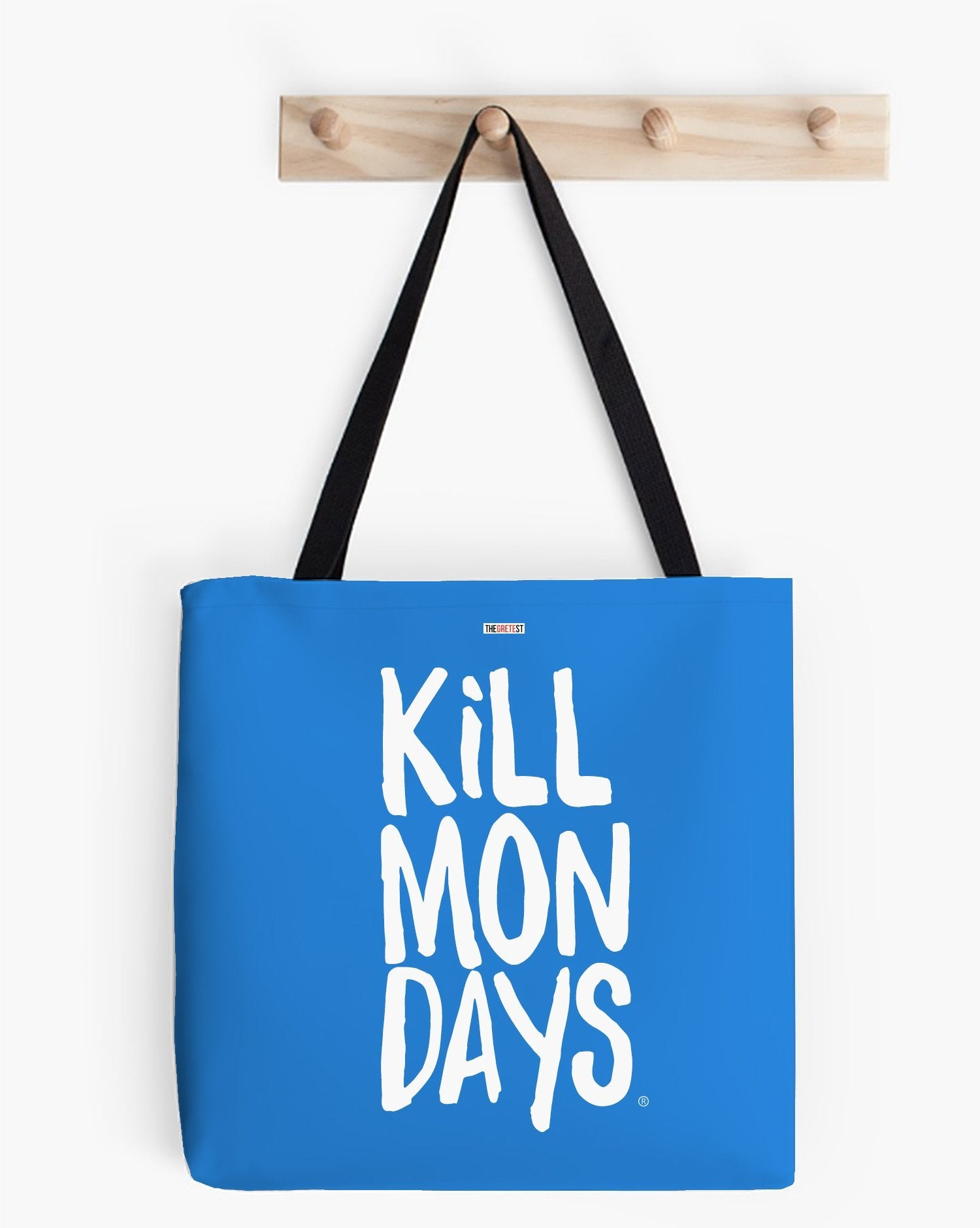 Kill Mondays Tote Bag -Blue tote bag-TheGretest
