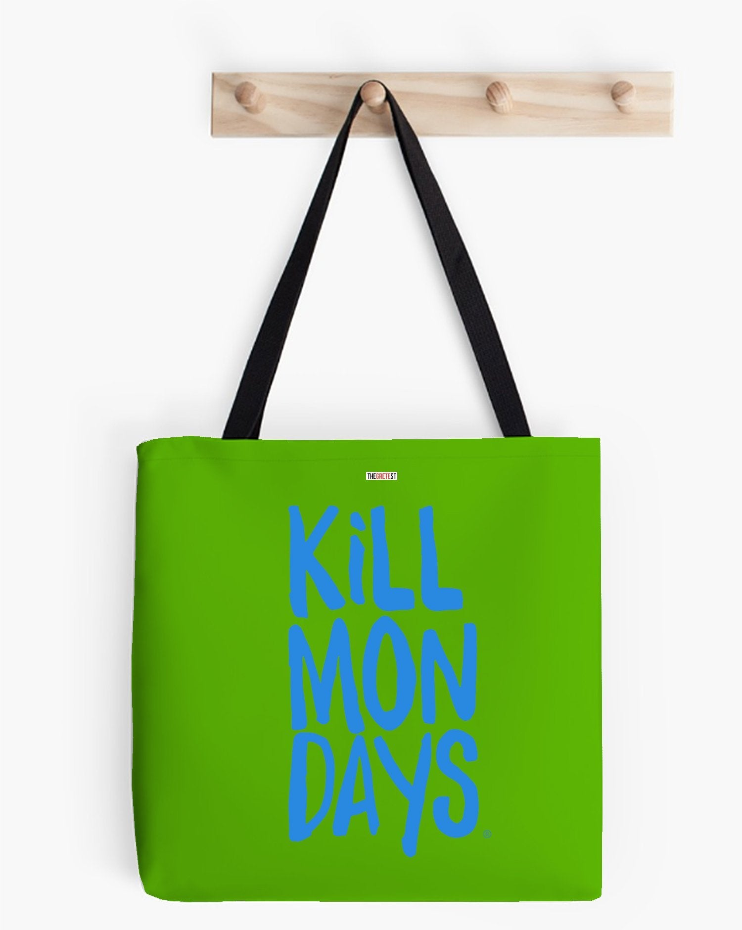 Kill Mondays Tote Bag - Green tote bag-TheGretest