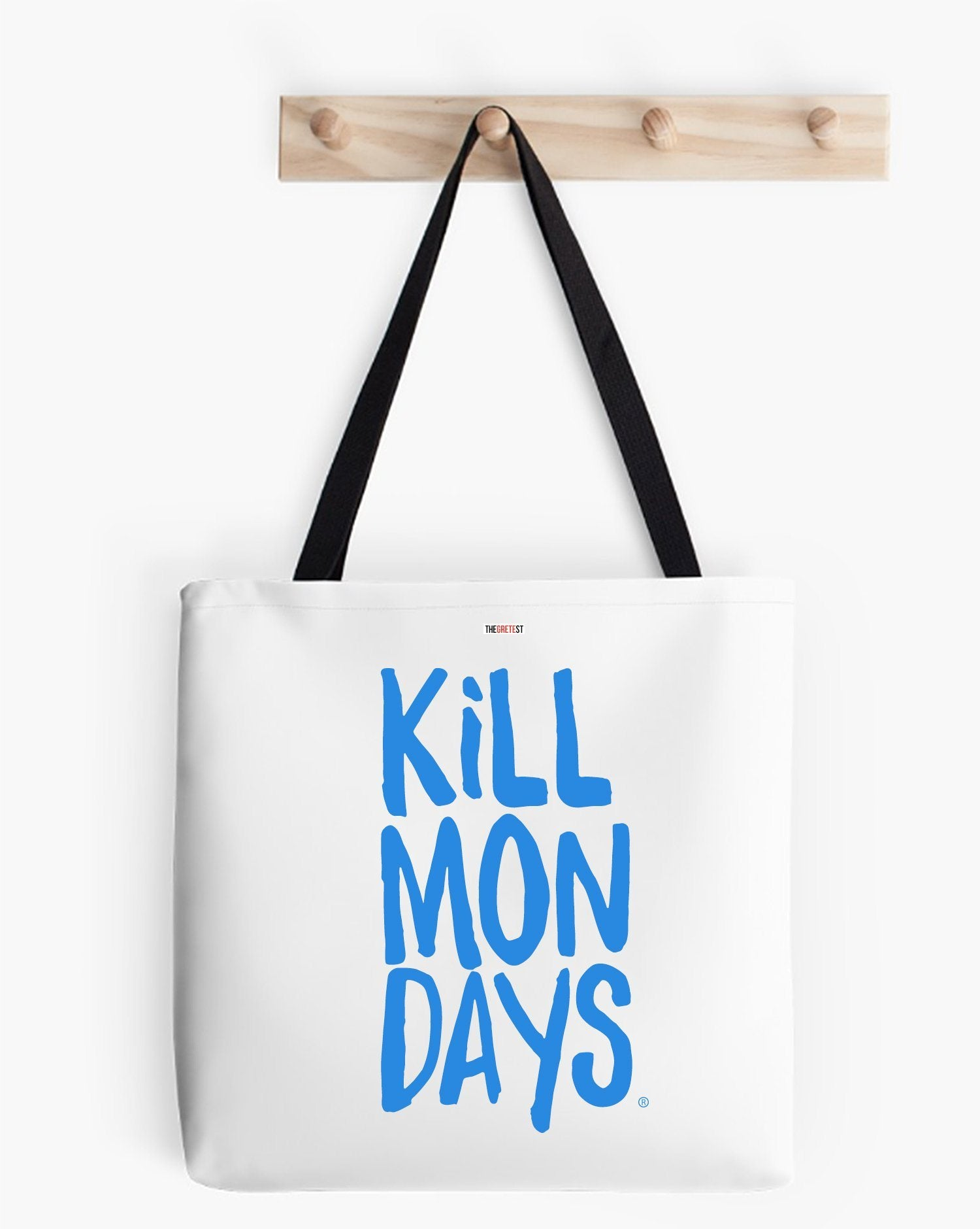 Kill Mondays Tote Bag - White tote bag-TheGretest