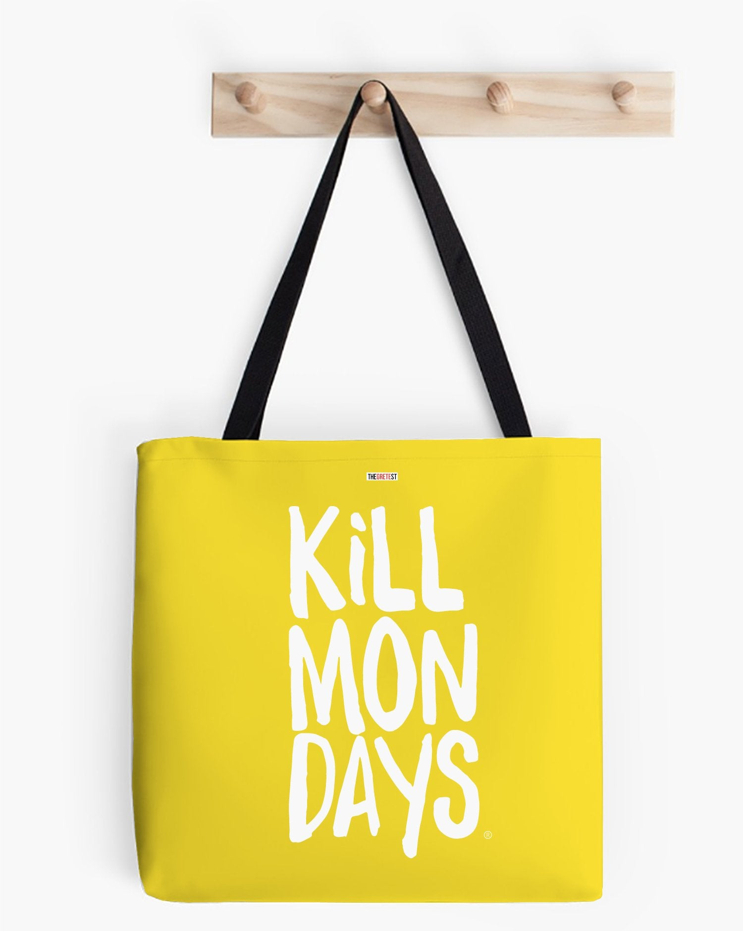 Kill Mondays Tote Bag - Yellow tote bag-TheGretest