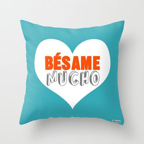 Besame Mucho Pillow Cover - Heart Pillow - TheGretest