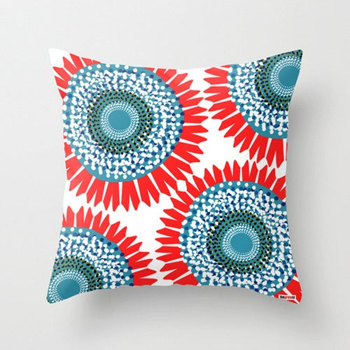 Big Flowers Pillow - Floral Pillow