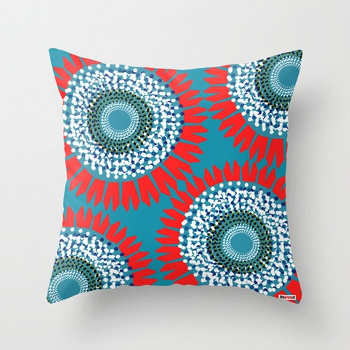 Big Flowers Decorative Pillow - Floral pillow