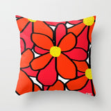 Big Red flowers Pillow - Floral Pillow - TheGretest