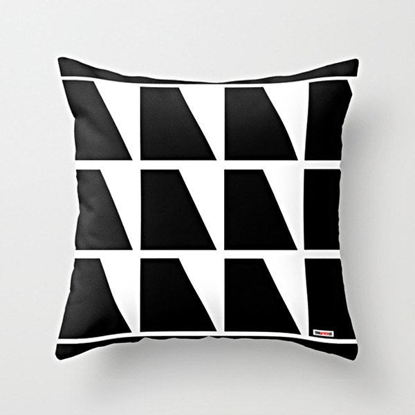 Black and white Pillow - Decorative Pillow - Designer pillow by The Gretest