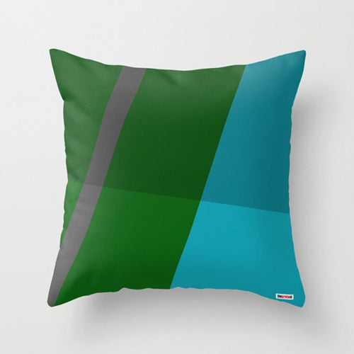 Green and Blue Decorative Pillow