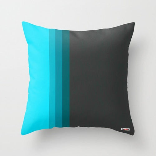 Blue Striped Modern Pillow