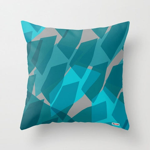Blues and grey Decorative Throw Pillow - TheGretest
