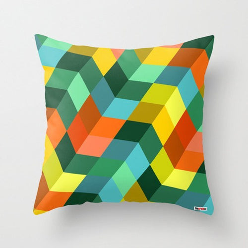 Color Blocks I Decorative Pillow