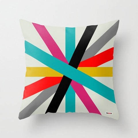 Color Stripes Decorative Throw Pillows - TheGretest