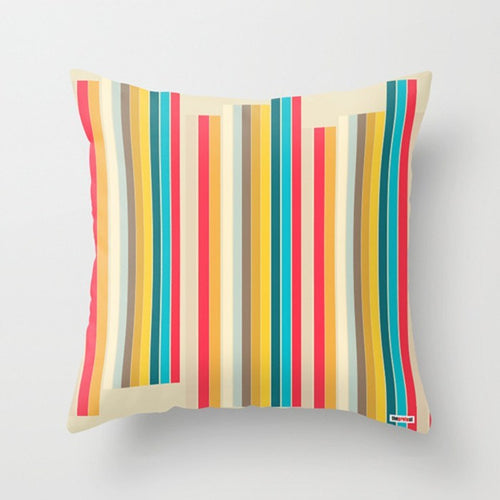Colorful Stripes Decorative Throw Pillows