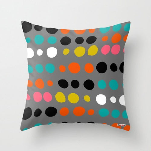 Colorful Dots Decorative Pillow