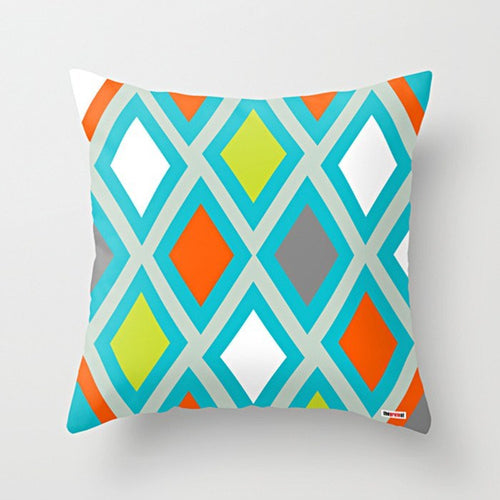 Rhombus Throw Pillow