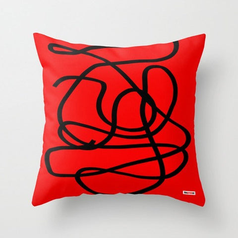 Red and black Decorative Pillow-Pillows-TheGretest