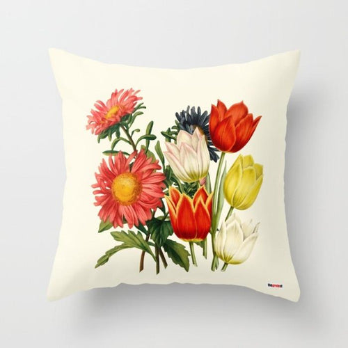 Floral Decorative throw Pillow