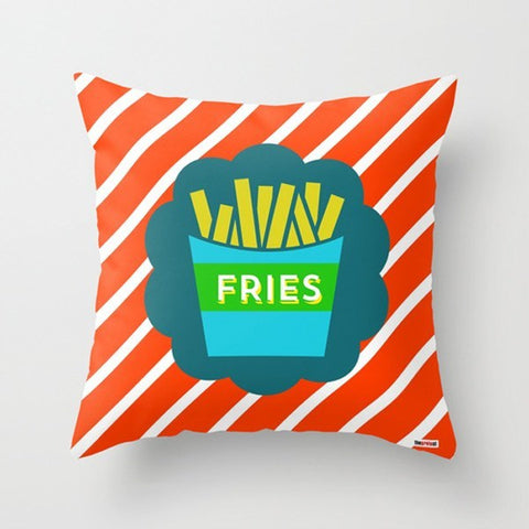 Fries Designer Throw pillow - TheGretest