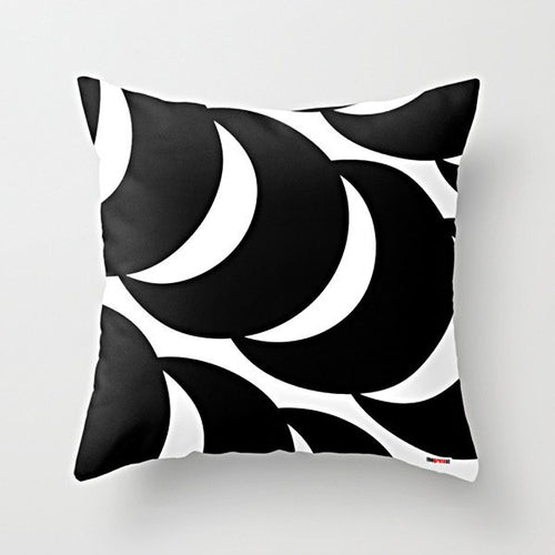 Geometric black Pillow