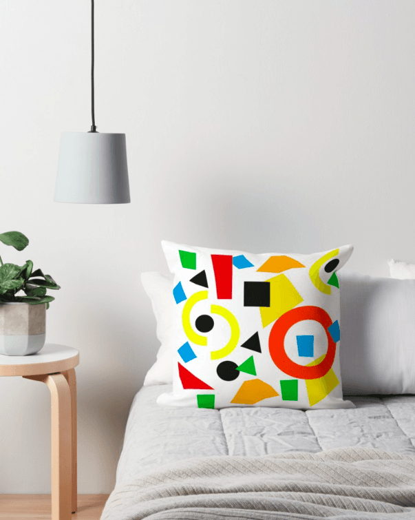 Geometric Pillow - Colorful Pillow-TheGretest