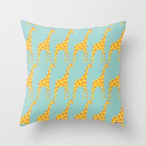 Giraffes Nursery Pillow