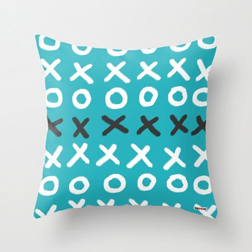 Happy Blue Decorative Throw Pillow