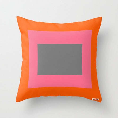 Happy Blocks Geometric Pillow