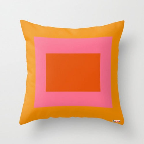 Happy Colors Geometric Pillow