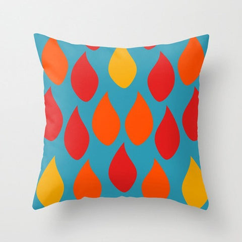 Colorful Drops Modern Throw Pillow - TheGretest