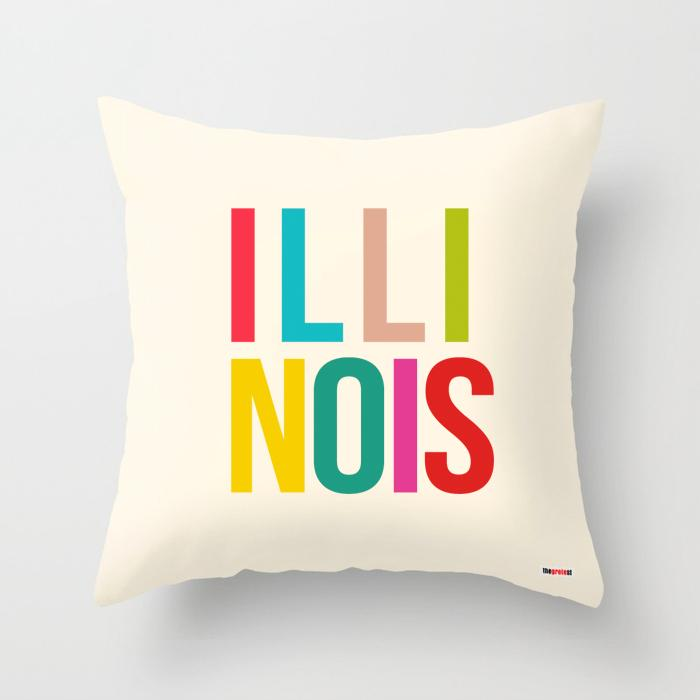 Illinois pillow - Illinois Souvenir Pillow-TheGretest
