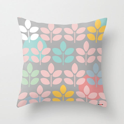 Leafs I Modern Throw Pillow