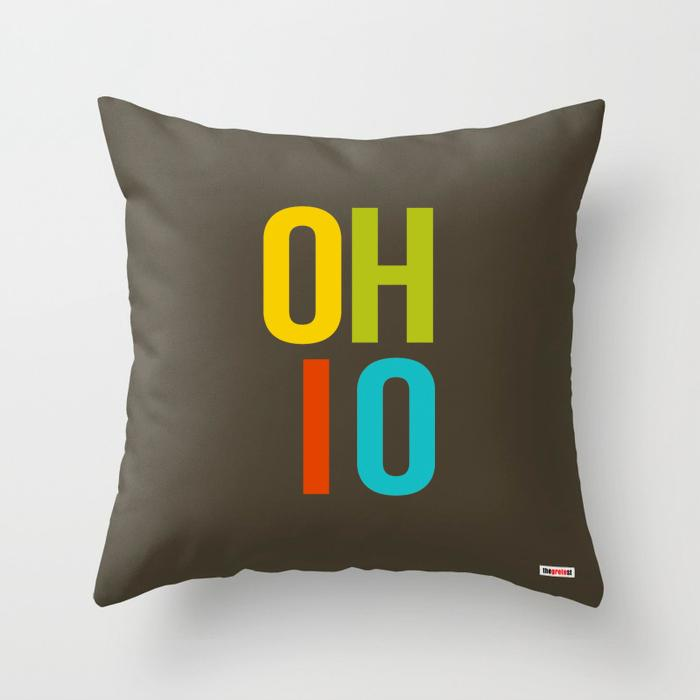 Ohio pillow - Ohio Souvenir Pillow-TheGretest