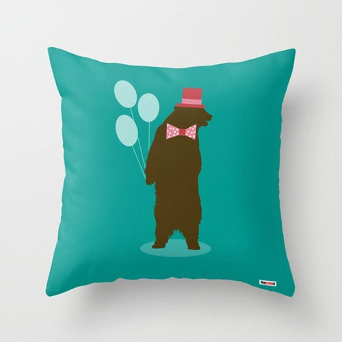 Party Bear Decorative Pillow