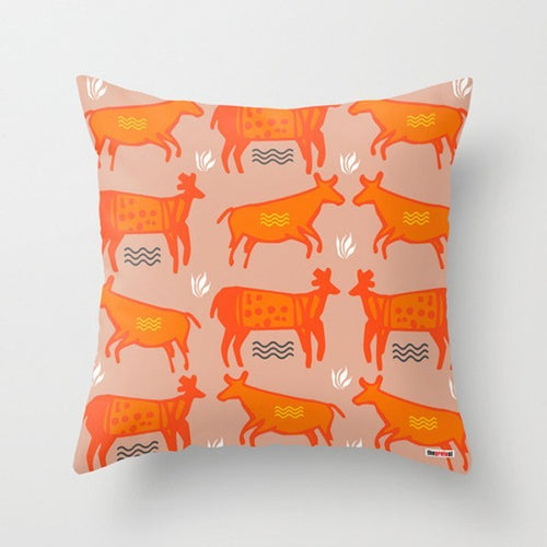 Prehistoric Art Decorative Pillows
