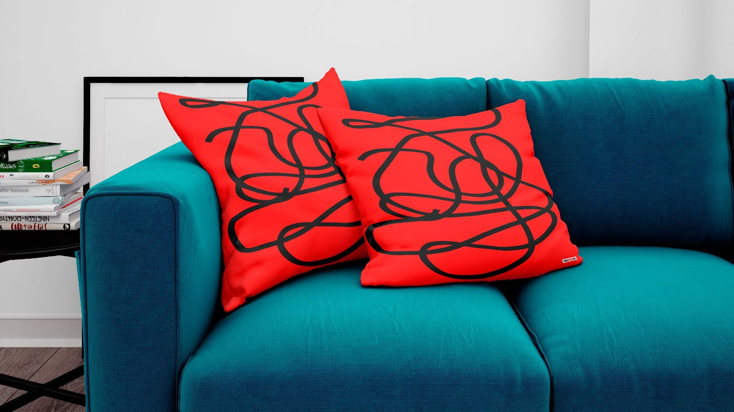 Red and black Decorative Pillow-TheGretest