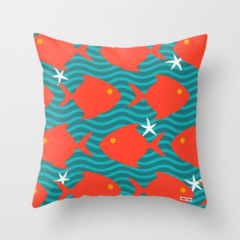 Red Fishes Decorative Pillow - TheGretest