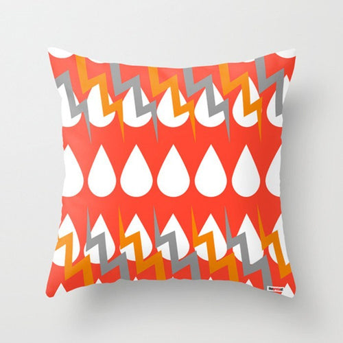 Red Storm Decorative Pillow