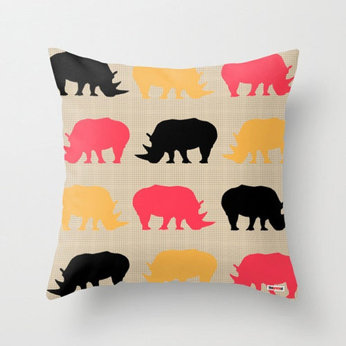 Rhinos Decorative Pillow