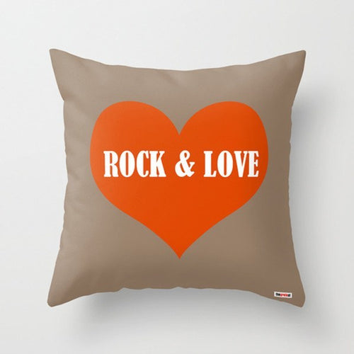 Rock and Love Decorative Pillow