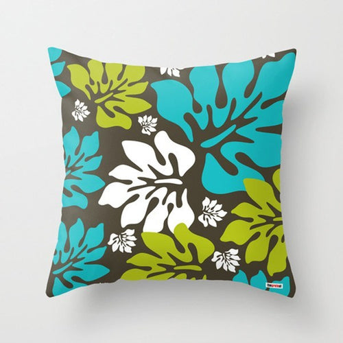 Surf Leafs Modern Pillow
