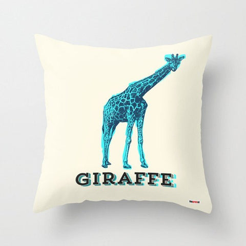 Vintage giraffe Modern Pillow-Pillows-TheGretest