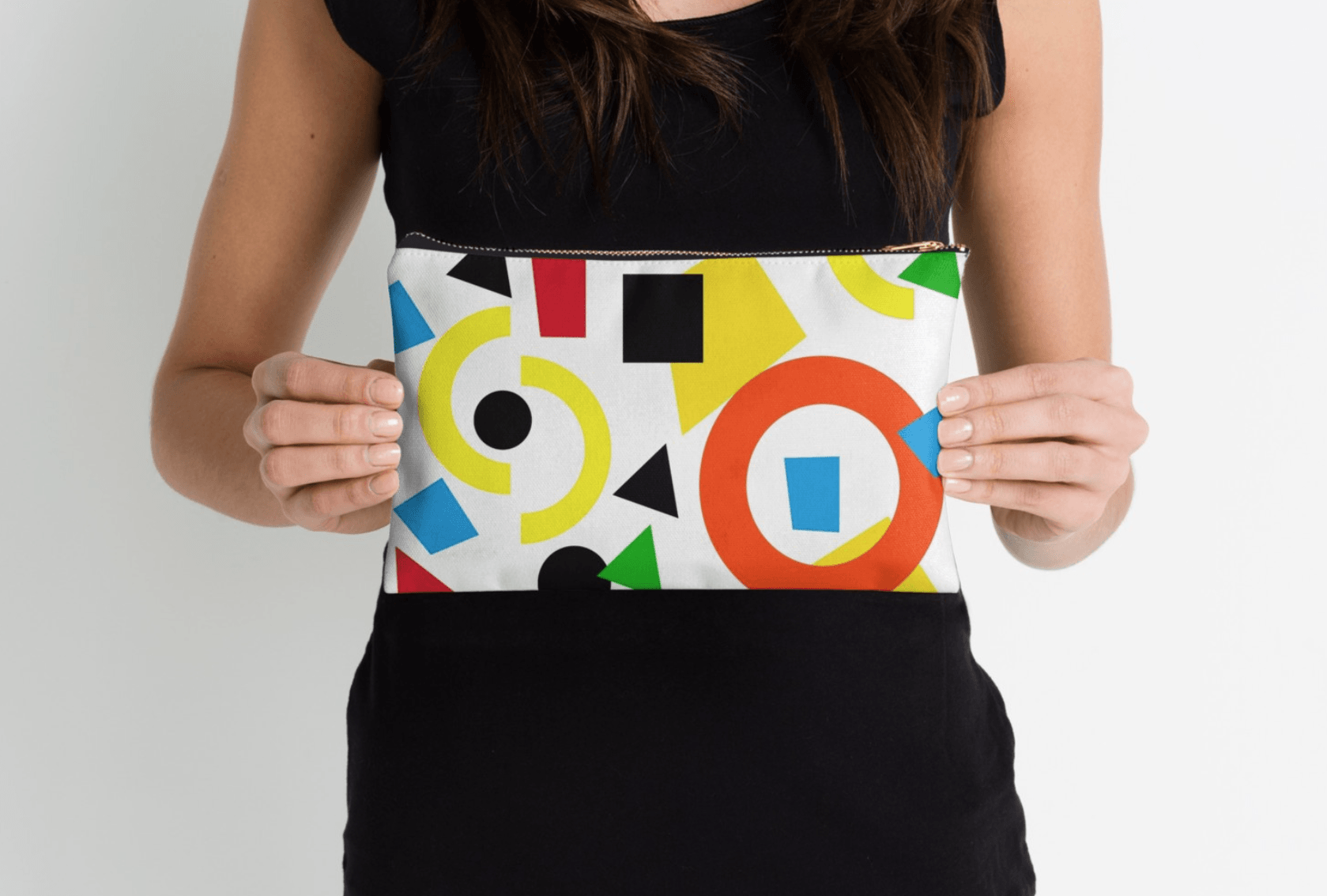 Geometric Pattern Pouch - Modern Pouches-TheGretest
