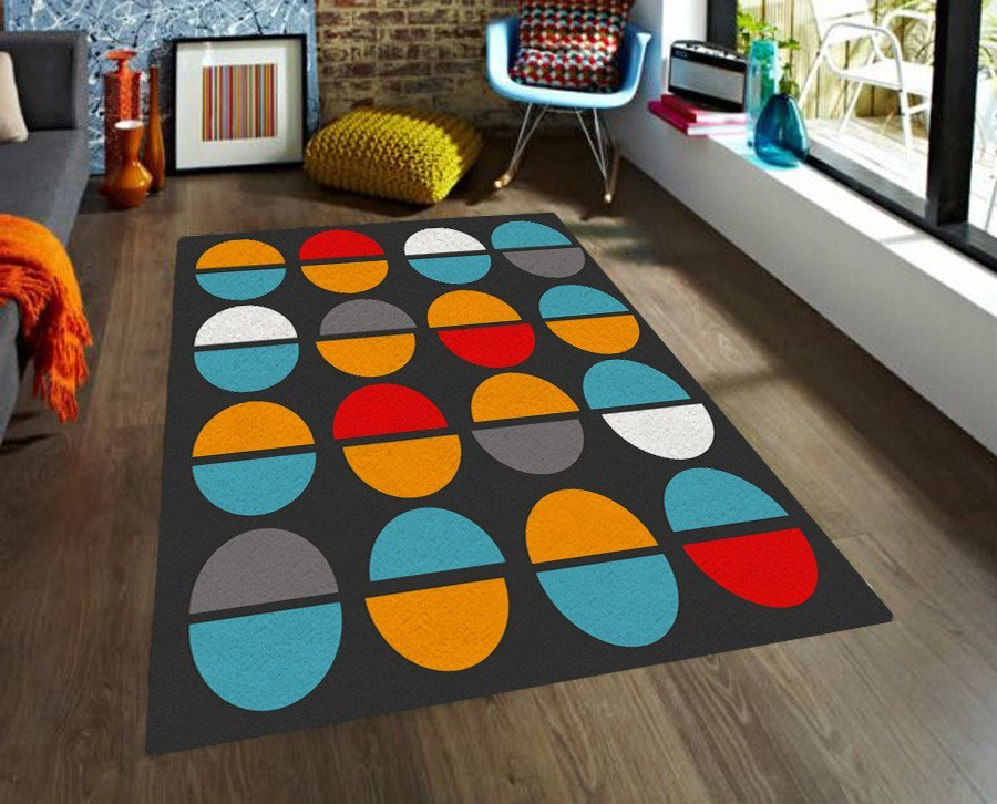 Modern rug - Area rugs with colorful shapes - 5x8 Rug - Affordable rugs-TheGretest