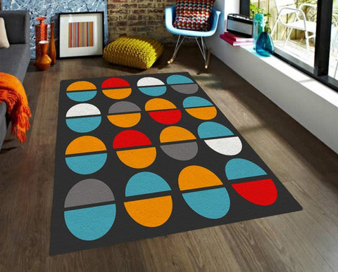 modern rug area rugs with colorful shapes 5x8 rug affordable rugs thegretest - 5x8 Rugs