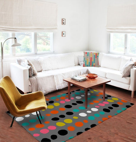 Dots Area Rugs - Colorful Area Rugs - 5x8 rug-Rugs-TheGretest