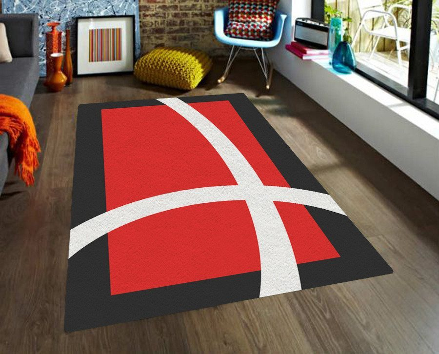Red Area Rugs -Modern Area Rug - Dorm rugs - 5x8 rug-TheGretest